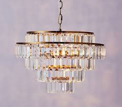 rectangular crystal drop chandelier