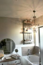 Rustic Bathroom Remodelaholic Build An Easy Rustic Bathroom Shelf