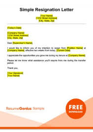 word templates resignation letter resignation letter samples free downloadable letters
