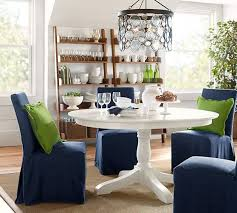 slipcovered dining chairs. PB Comfort Square Slipcovered Dining Chairs