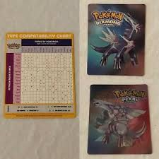 Details About Pokemon Diamond Pearl Holographic Card Type Compatibility Chart Dialga Palkia