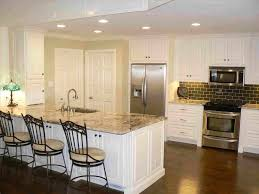 off white kitchen cabinets dark floors. With Cool Wooden Bar Island Rhpinterestcom Classy Off White Kitchen Cabinets Dark Floors Antique