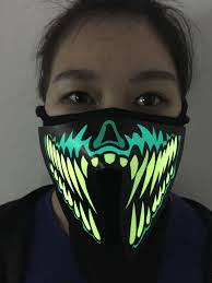 Light Up Mask El Panel Mask Party Gift In Shenzhen Led Light Up Mask Buy El Panel Mask Party Gift El Panel Mask Shenzhen El Panel Mask Product On Alibaba Com