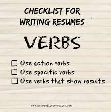 Verbs To Use For Resume Resume Template 2018