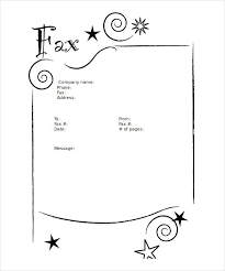 Microsoft Templates Cover Letter Stars Blank Fax Cover Sheet Word