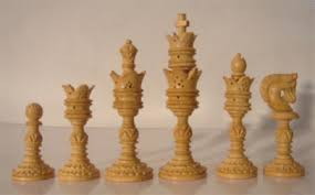 Wooden Game Pieces Bulk Lotus Carved Chess PiecesIndian Rosewood Chess PiecesSheesham 92