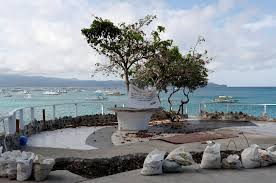 a view of a rock formation transformed into a mini park in the closed west e resort on boracay island in philippines april 10 2018