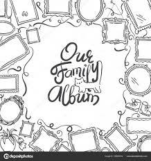 Disegni Cornici Vector Copertina Album Fotografico Famiglia A