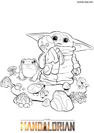 Printable coloring page for the mandalorian and baby yoda. Baby Yoda Coloring Pages Free Printable Wonder Day