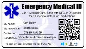 Wallet Photo Emergency Solutions Nfc Id Identity Rfid Card Ahead - Medical