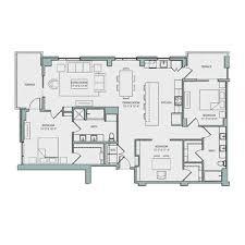 luxury apartment floor plans 3 bedroom. Delighful Bedroom 19th Floor C1 Plan 3 Bed 2 Bath 1607 Sq Ft 4930 To Luxury Apartment Plans Bedroom O