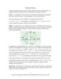 ytical geometry