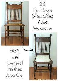 refinish wooden chair antique press back wood chair update with java gel stain artsy refinish refinish wooden chair
