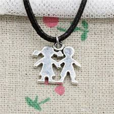 whole creative fashion antique silver pendant boy girl lover 16 17mm necklace choker charm black leather cord handmade jewlery gold name necklace mens