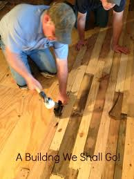 Floors Made From Pallets A Building We Shall Go The Art Of Pallet Wood Flooring