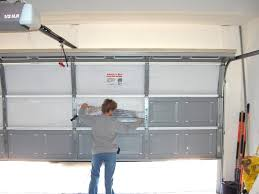 image of install garage door opener and insulation