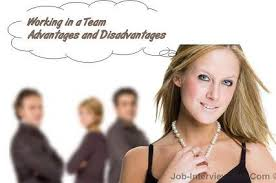 working as a team working in a team advantages and disadvantages