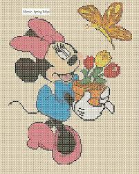 Cross Stitch Chart Mickey Mouse Valentine Love