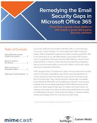 Remedying The Email Security Gaps In Microsoft Office 365