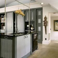 6 corrugated metal cupboards