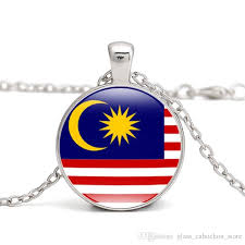 whole malaysia flag pendant necklace southeast asia country east timor philippines cambodia myanmar i love hometown men women jewelry whole fashion