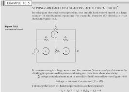 example 10 5 solving simultaneous equations an electrical circuit in solving an electrical circuit problem
