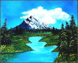 simple landscape painting ideas mountains paintings of easy mountain oil work with
