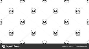Design Repeat Wallpaper Symbols Skull Halloween Seamless Pattern Vector Pirate Symbol Bone