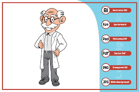 Every path element is drawn at the same time with a small delay at the to give more freedom, it's possible to override the animation of each path and/or the entire svg. Professor Old Man Cartoon Character Graphic By Leamsign Creative Fabrica In 2020 Old Man Cartoon Character Graphic Cartoon Characters