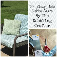 lovely patio cushion covers the dabbling crafter diy sunday covering patio cushions house decorating pictures