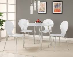 Amazon Com Novogratz Shell Bentwood Modern Round Chairs White