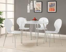 com novogratz s bentwood modern round chairs white set of 2 kitchen dining room furniture