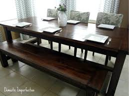 Dining Room Tables With A Bench Custom Decorating