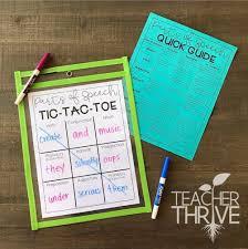 Parts Of Speech Flip Chart Reteaching And Reviewing Parts Of Speech Teacher Thrive