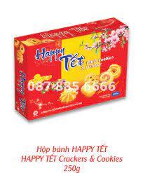 Bánh hộp giấy Happy tet - Quà Tết Hải Hà