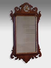 antique fret wall mirror