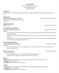 Example Resume College Student Examples Of Good Resumes For College Students Wikirian Com