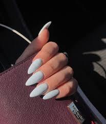 Almond Shaped Nail Designs Nails Almond Lightblue Acrylicnailsalmond Almond