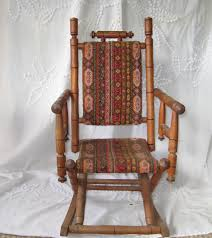 antique rocking chair childs rocking chair upholstered childs rocker childrens rocker victorian 1800s to early 1900s