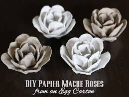 Flower Paper Mache Upcycle Papier Mache Roses From An Egg Carton
