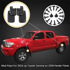 Molded Front Rear For Toyota Tacoma Mud Flaps Mud Guards Splash ...