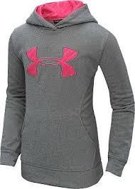 under armour shirts for girls. under armour girls\u0027 armour fleece storm big logo hoodie - sportsauthority.com under shirts for girls