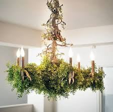 unique chandelier lighting. this unique chandelier boasts a fun and foliage themed design eco trendhuntercom lighting