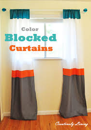 Diy Curtains Color Blocked Curtains Nursery Project 2 Creatively Living Blog