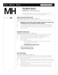 Pr Resume Resume Templates