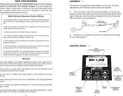 Treasure Hunter Md 3030 Owners Manual Mp 3 Pro Metal Detector Owners S Manual High Performance
