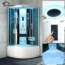 showers aqua glass steam shower round corner kit designs parts