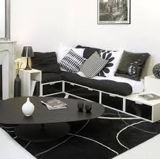 Living Room Space Saving Elegant Small Living Room With Black White Theme With Space Saving