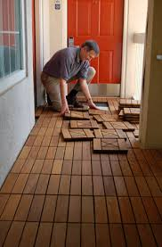 how to install patio deck tiles