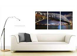 on set of 3 wall art australia with cheap sydney australia canvas prints set of 3 for your living room